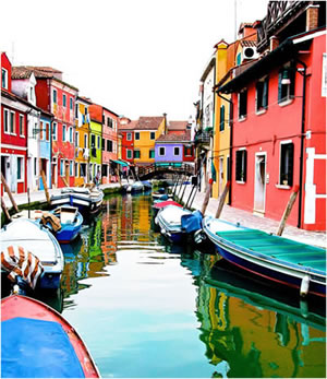 Burano Red Boat